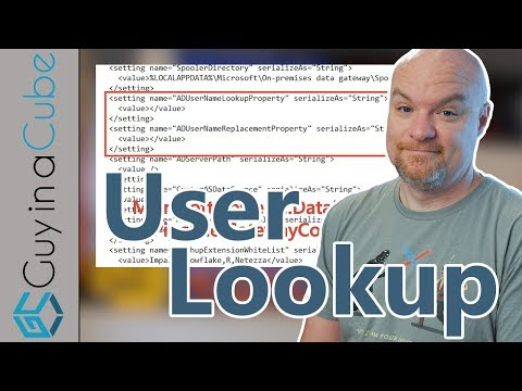 Power BI User Lookup With The Gateway Using Active Directory