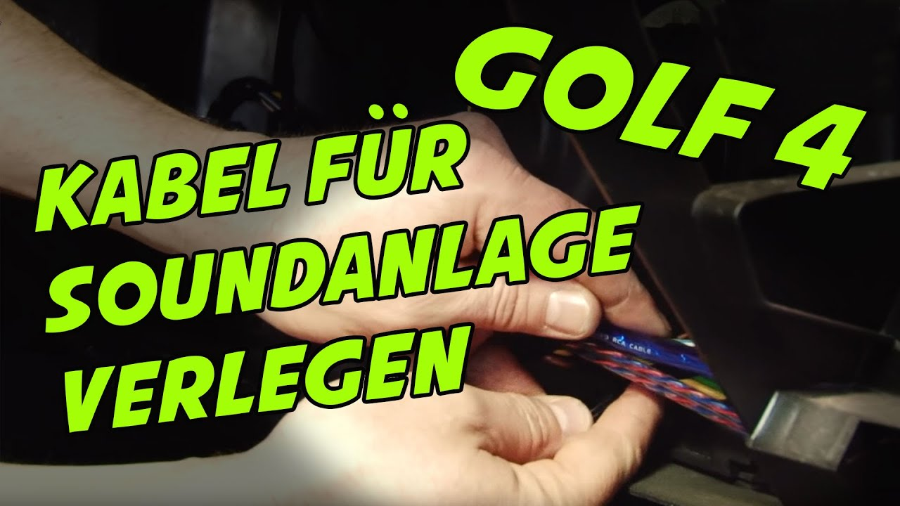 Kabel im GOLF 4 für Soundanlage verlegen | TUTORIAL | ARS24COM - YouTube