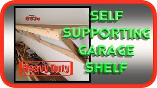 Garage Shelf | Self Supporting Suspended & Heavy Duty | How To DIY