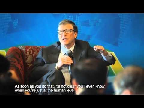 Baidu CEO Robin Li interviews Bill Gates and Elon Musk at the Boao Forum, March 29 2015