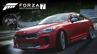 KIA STINGER! 🇰🇷 Sul-Coreano com alma ALEMÃ! 🇩🇪 | Forza Motorsport 7 + G29