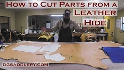 How to Cut Parts from a Leather Hide