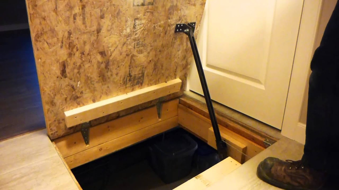 Trap door opener youtube - Cellar door hinges ...