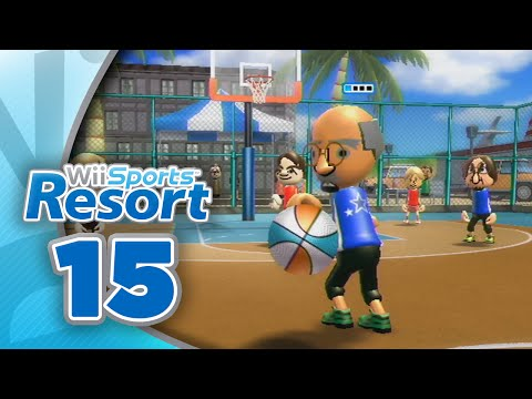 Wii Sports Resort: Part 15   Basketball - Pickup Game (4-Player)