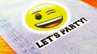 DIY Emoji Bügelbild aus Plastiktüte | DIY Idee für Kids | Kleidung & Taschen dekorieren