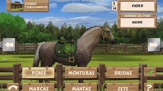 caballos para niños animados, cabalgata de caballos, cuidados, español   Juegos para niños
