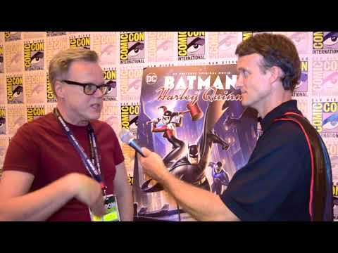 Bruce Timm (Executive Producer) interview at Batman and Harley Quinn Premiere at SDCC