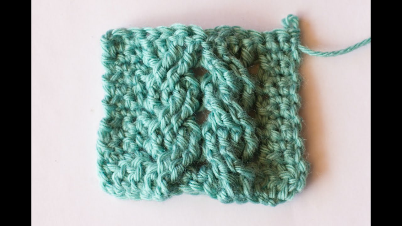 crochet cable stitch instructions