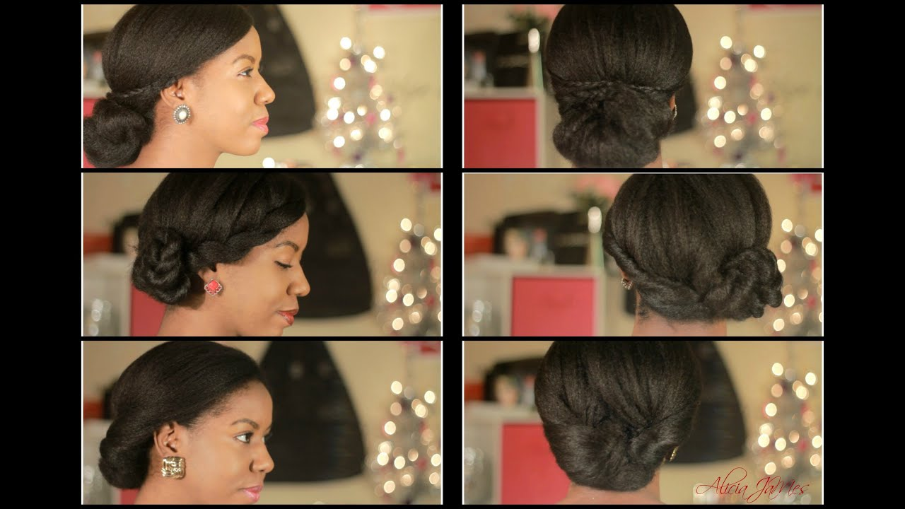 3 simple elegant natural hairstyles - ❋holiday hair ❋ - youtube