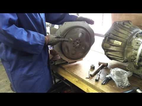 BMW E31 840CI EV Conversion 03:Adapter plate 02