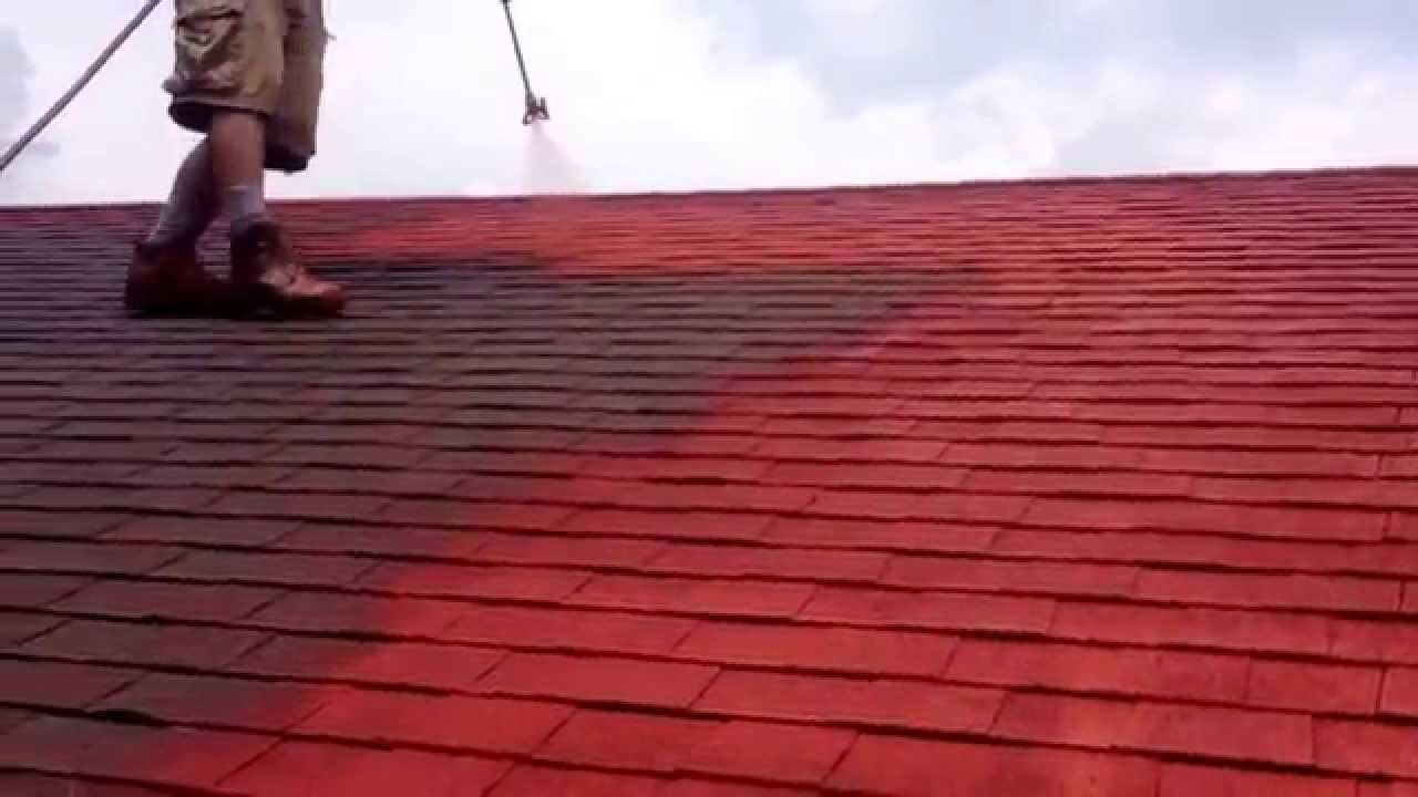 Shingle Roof Painting Youtube