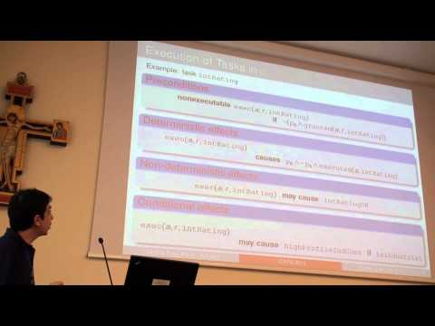 ICAPS 2013: Marco Maratea - Modeling and Reasoning about Business Processes under Authorization ...
