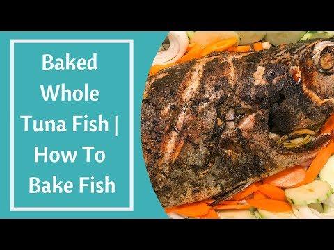 Baked Whole Tuna Fish   How To Bake Tuna Fish