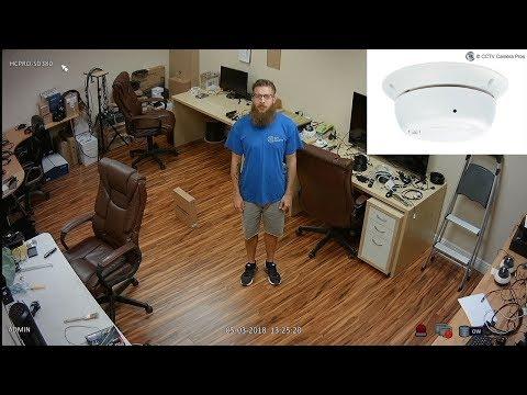 HD Smoke Detector Security Camera Hidden Video Surveillance Demo