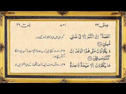 Surah yasin full by nassim yaqub with written urdu translation surah