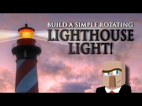 Build A Rotating Lighthouse Light Its A Minecraft Gotta Know