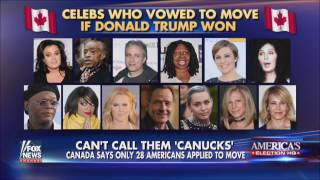 Celebrities refuse to move to Canada after Donald Trump's election