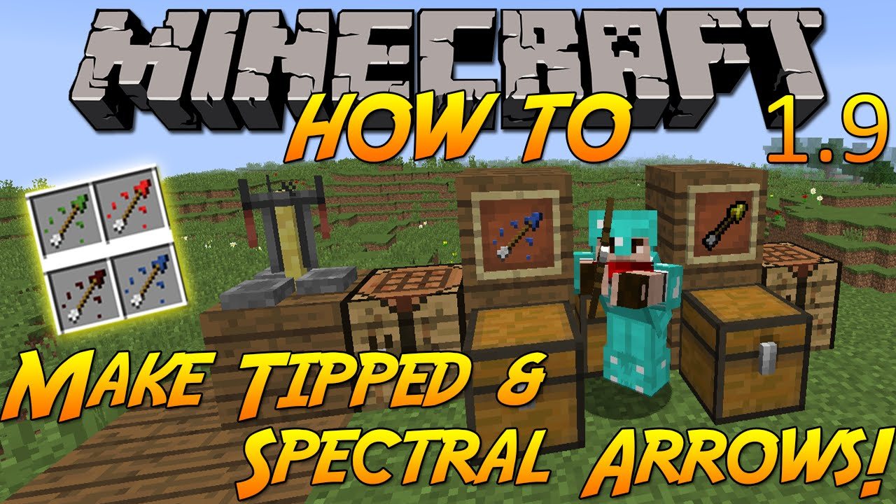 Minecraft   Spectral Arrow Crafting
