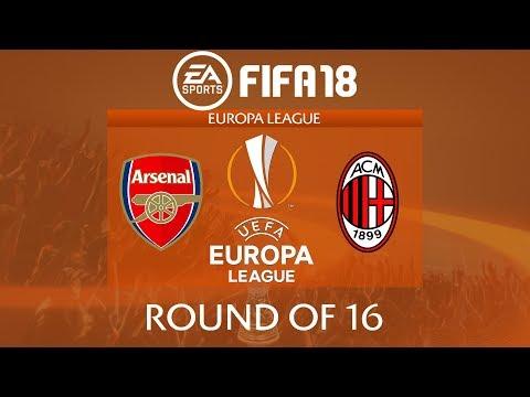 FIFA 18 Arsenal vs AC Milan | Europa League 2017/18 | PS4 Full Match