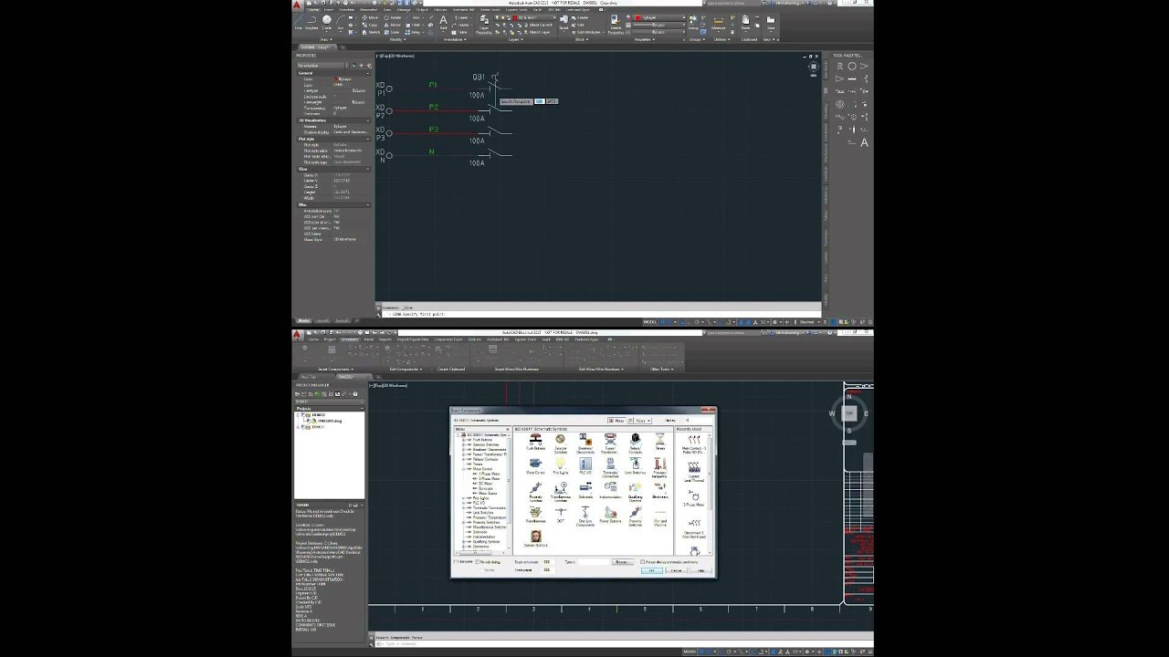 Autocad Vs Electrical 2d Schematic Diagram Draughting Youtube Drawing Cad Free