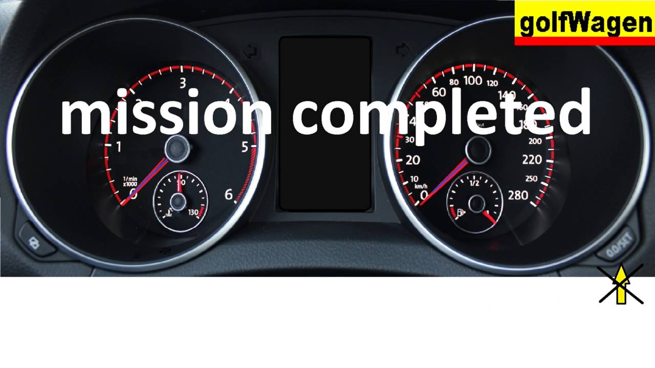 how to reset service light on vw golf mk6