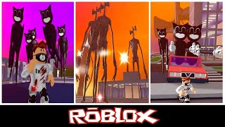 Survival the cartoon cat & Siren-head the killer By youriping [Roblox]