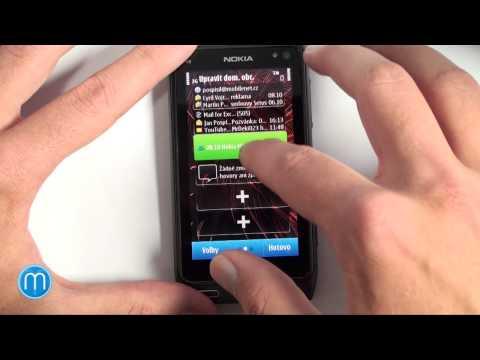 Nokia N8 - Symbian^3 - prohlídka prostředí (část 1/2)