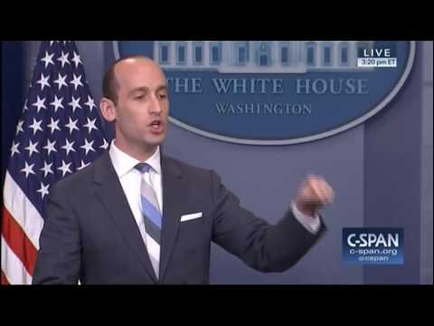 Trump Advisor Stephen Miller Spars With CNN's Jim Acosta At Press Briefing