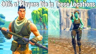 TOP 10 FORTNITE LOCATIONS YOU'RE MOST LIKELY TO DIE AT