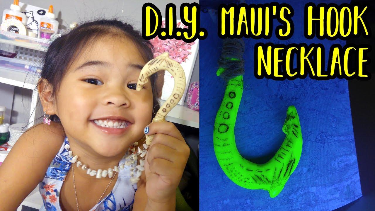 Diy Maui S Hook Necklace Tutorial Diy Glowing Maui S