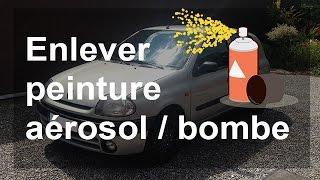 Comment enlever peinture aérosol/bombe de votre voiture