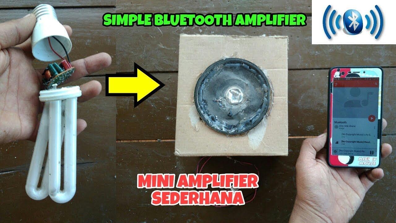 Simple Bluetooth amplifier from broken lights