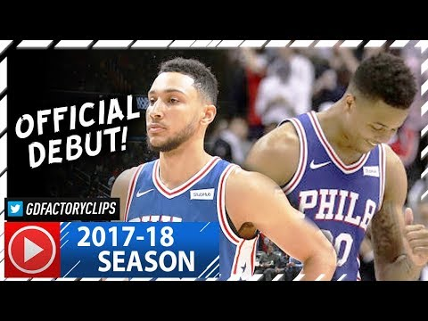 Ben Simmons & Markelle Fultz Full Highlights vs Wizards (2017.10.18) - Official NBA Debut!