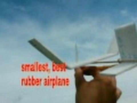 How To Make Mini Rubber Band Plane Best Newcd Youtube