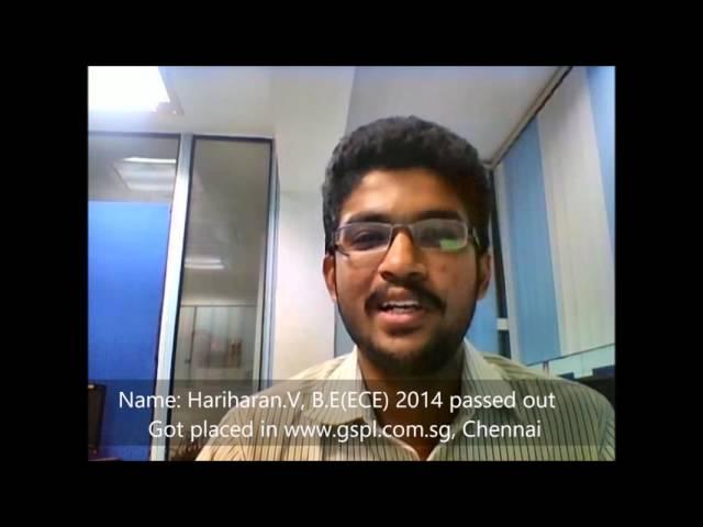 TCDC - 100% Placement Proven History - Hariharan - Web Development Course.