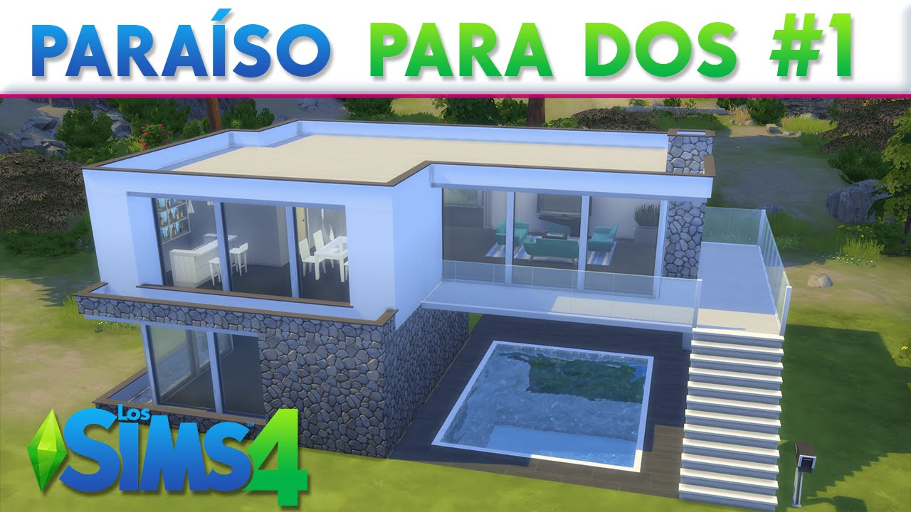 Para so para dos los sims 4 construcciones youtube for Casas modernas the sims 4