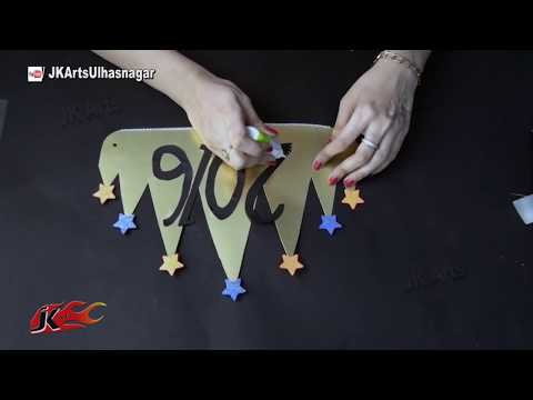 DIY Party Prop Crown for New Year, Christmas, Birthday | How to make | JK Arts 814