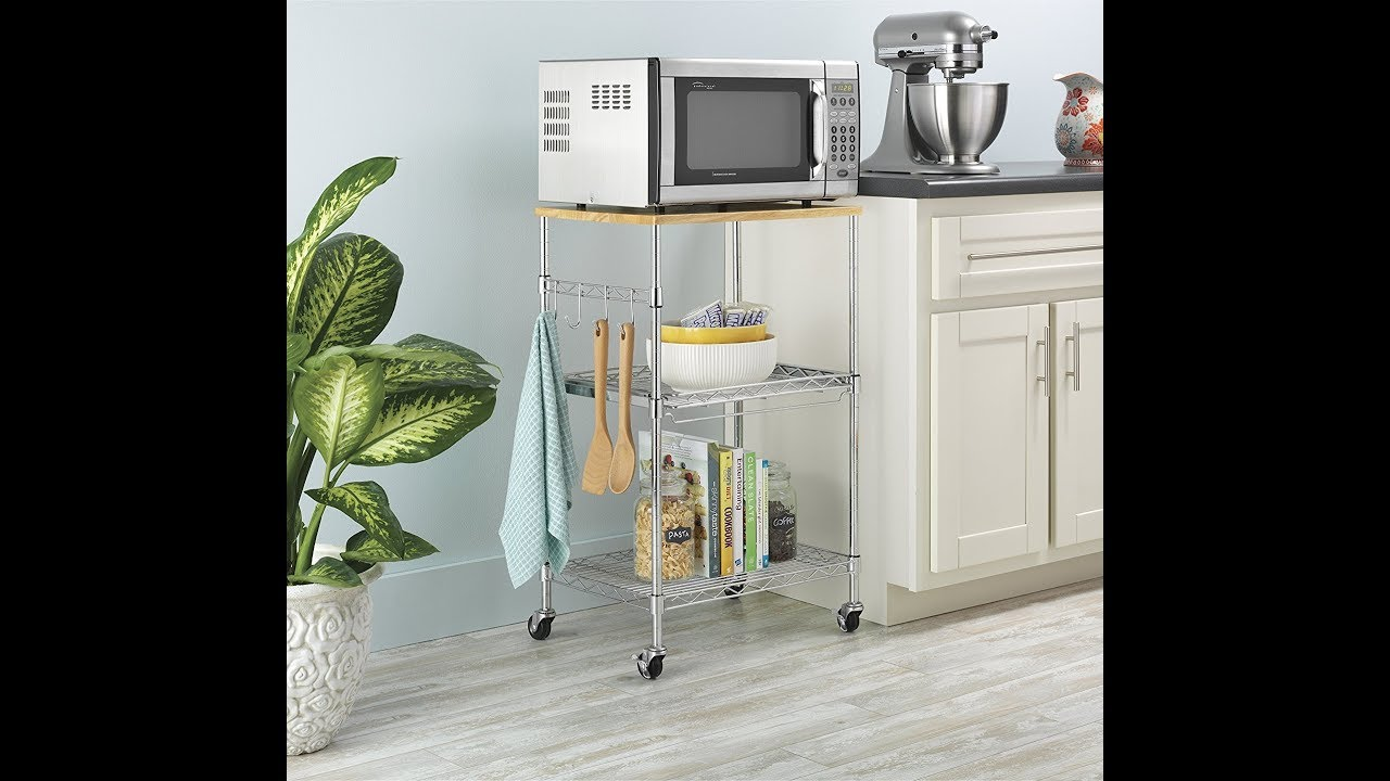 Whitmor Supreme Microwave Cart With
