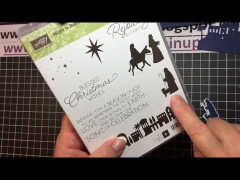 Stampin' Up! Night in Bethlehem Diorama Card