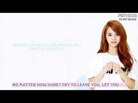 [Karaoke-Lyric] G.NA Feat. Sorn - Because You Are The One (English Ver.)
