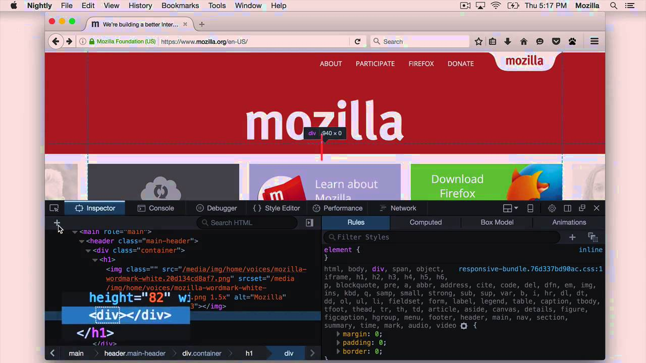 Examine and edit HTML - Firefox Developer Tools | MDN
