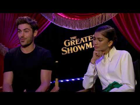 Zendaya and Zac Efron Interview The Showman