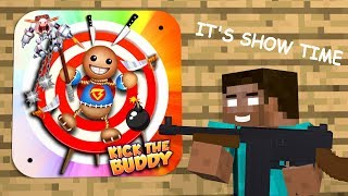 Monster School KICK THE BUDDY GAME CHALLENGE Minecraft Animation