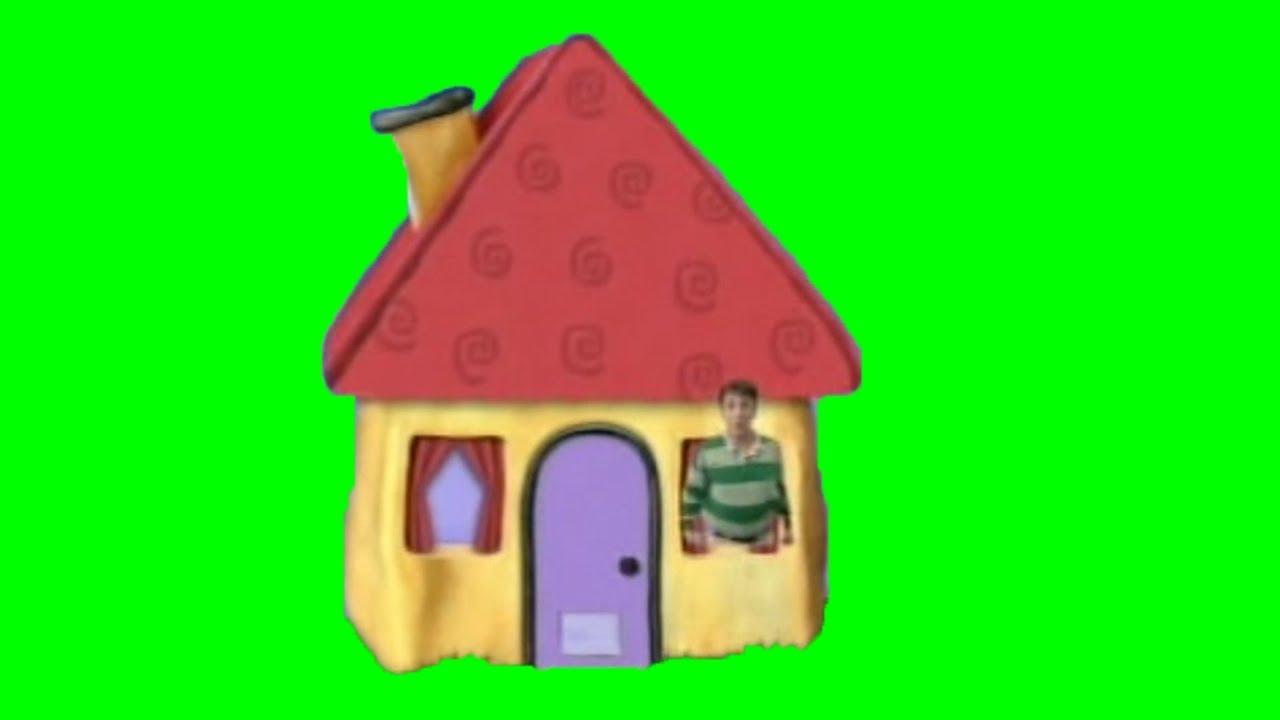 Blue S Clues Door Open Green Screen Meme Template Comeonin