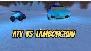ATV Vs Lamborghini-Jailbreak   The Weird Roblox