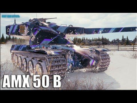 Боец Молодец 10к урона ✅ World of Tanks AMX 50 B лучший бой