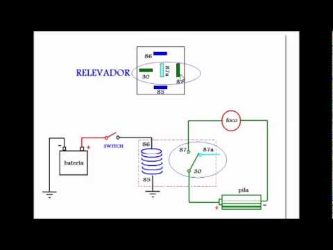 4 pin fan wiring diagram el relevador o relay wmv youtube  el relevador o relay wmv youtube