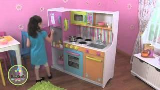 Cocina de juguete KidKraft. Cocina de juguete grande de lujo en EurekaKids