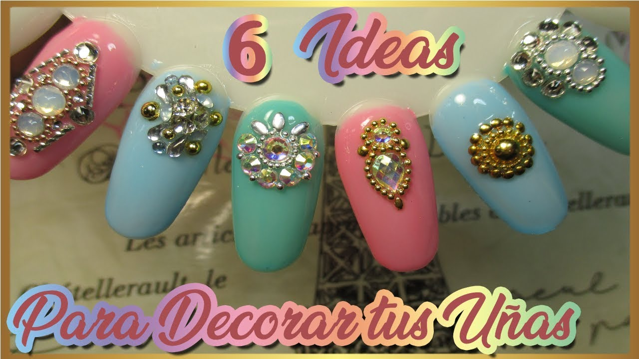 Decoraci n de u as con clon swarovski cristales en u as for Cristales swarovski para decorar unas