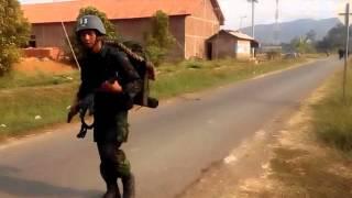 Tentara Indonesia Berjalan Kaki dari Majenang Ke Gunung Wilis